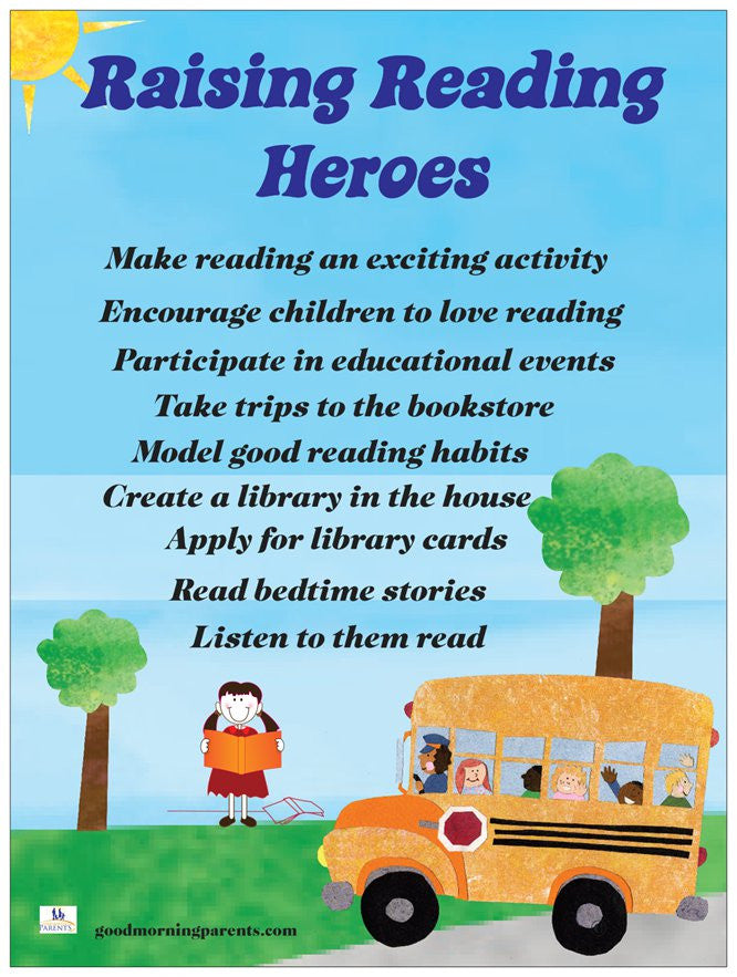 Raising Reading Heroes Poster