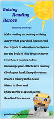 Raising Reading Hereos Incentive Card