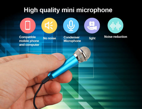Mini 3.5mm Aux Wired Handheld Karaoke / Recording Mic for IOS and Android