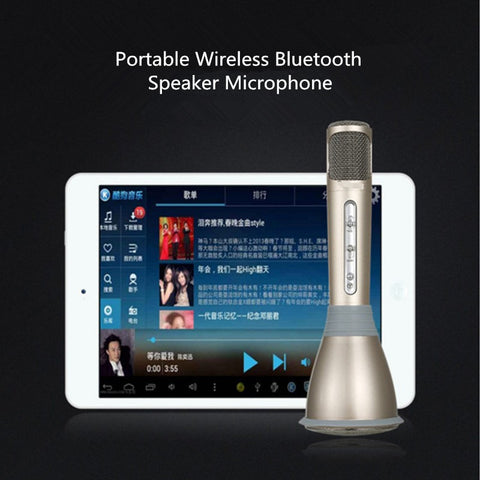 Portable Bluetooth Karaoke Speaker Mic for IOS and Android