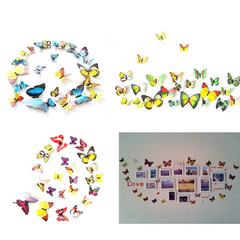 12 Pieces 3D Butterfly Wall Stickers