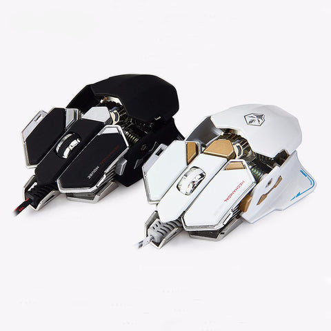 Adjustable Gaming Mouse 4000DPI Optical 9 Mechanical Programmable USB Wired