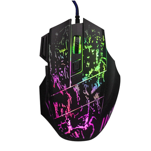 Optical 7 Buttons USB Wired Gaming Mouse 5500DPI With Breathing Light