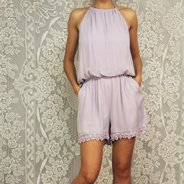 AllyLee Lilac Romper