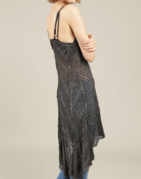 Hailey High-Low Lace Cami Top/Dress