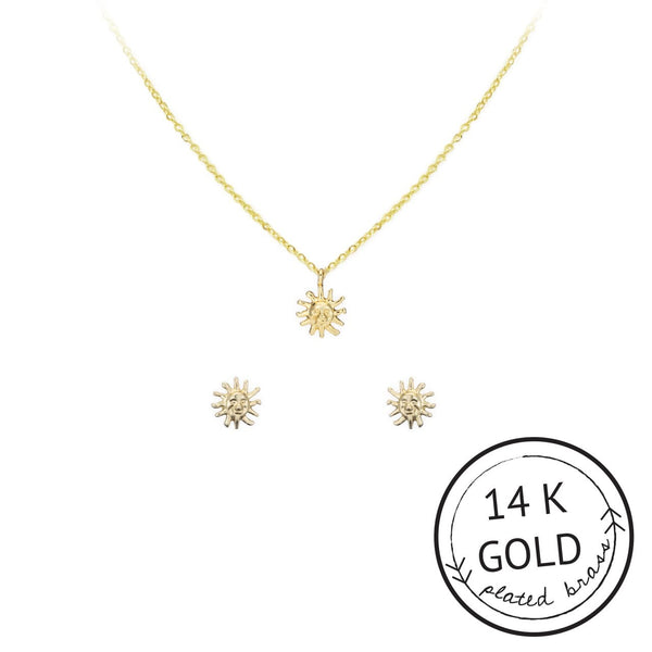 Sun Necklace & Earring Set