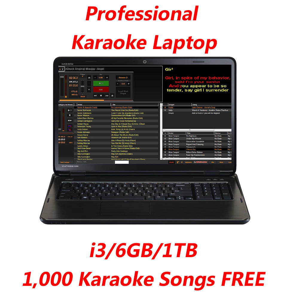 Professional Karaoke Laptop Computer Karaoke Music Karaoke Software