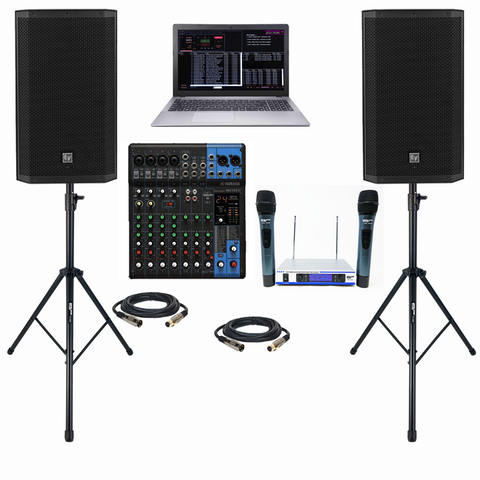 EV ZLX-12P | PROFESSIONAL DJ KARAOKE SYSTEM | LAPTOP KARAOKE SYSTEM | EV POWERED 2000 WATT SPEAKERS