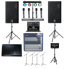 Professional Laptop Karaoke System, Yamaha DXR12 Speakers, Bluetooth, Recording