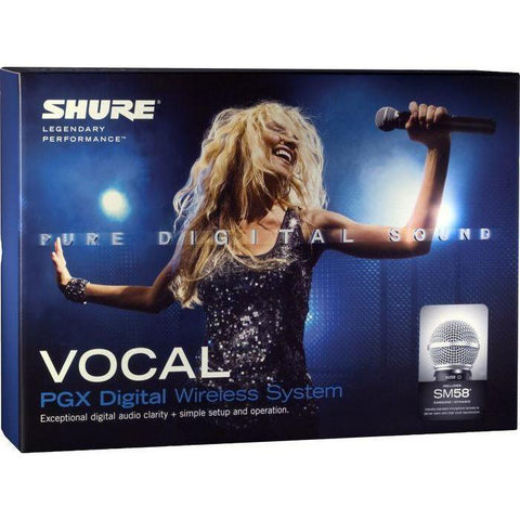 Shure PGX Digital Handheld Wireless Mic System with SM 58A Handheld Mic