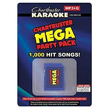 Chartbuster Mega Party Pack Karaoke Music MP3G Karaoke Tracks