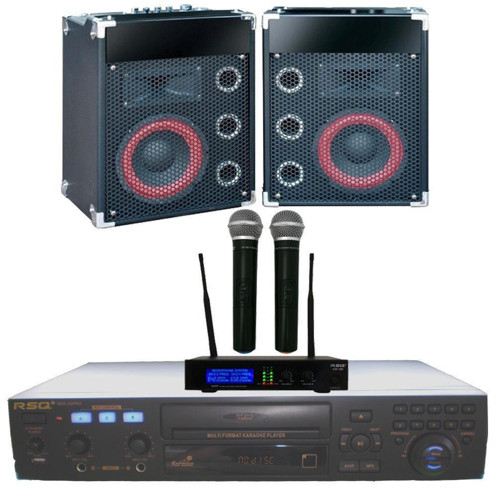Karaoke System, Cavs 205G Karaoke machine, Wireless Mics Bluetooth speakers