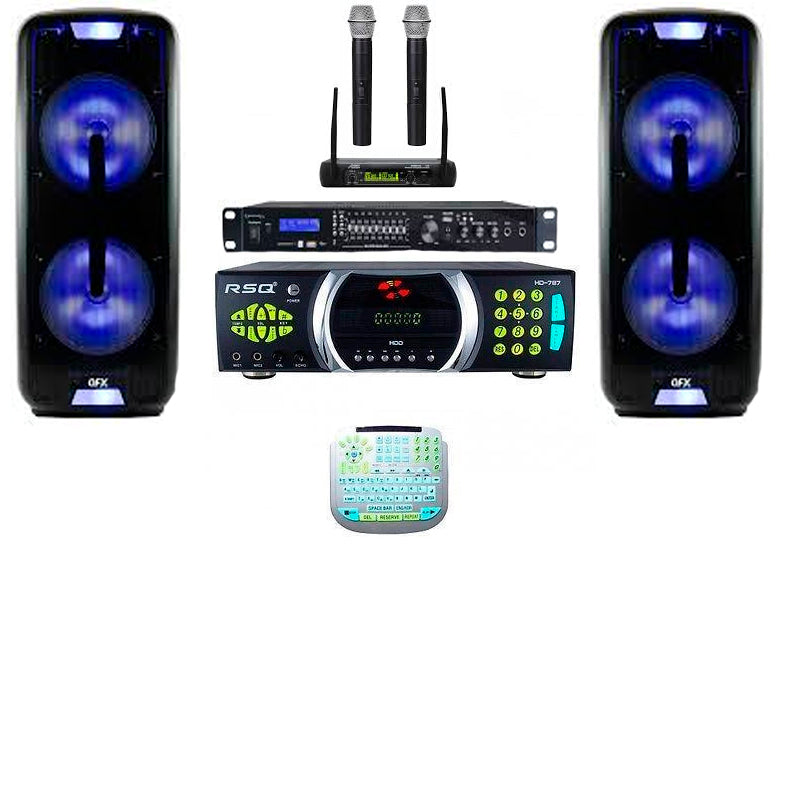 Home Karaoke System | Double 12 Speakers | Wireless Mics| Recording | Bluetooth|