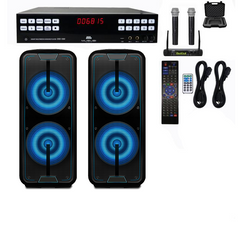 High-End Karaoke System | Built In Digital Mixer | Bluetooth Speakers | 1000 Free Karaoke Songs