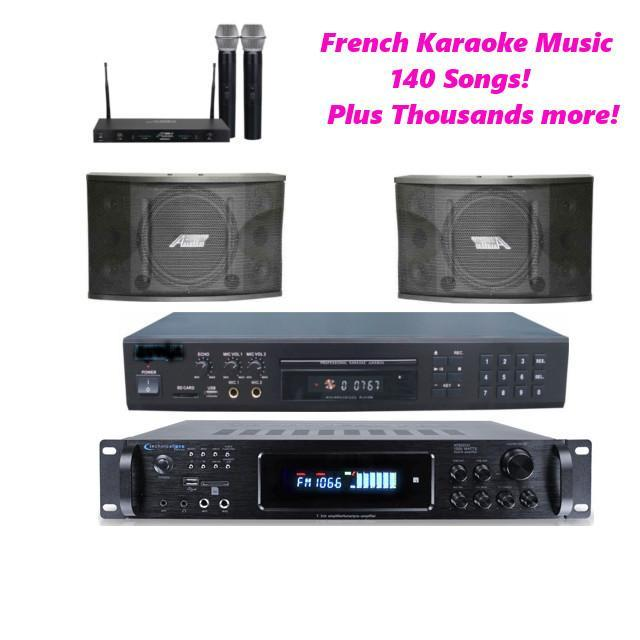 French Karaoke System, 140 French Hits, THOUSANDS of Multi-language Karaoke Hits, Lightyear Music