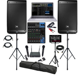 JBL Professional Karaoke System, Bluetooth, Mixer, Wireless Mics, Monitor and Stand and Free Karaoke Songs