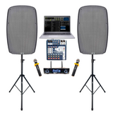 Laptop Karaoke System, Karaoke Speakers, Professional Mixer, BEST Microphones with 1,000 FREE SONGS!