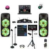 "Professional Karaoke System 7000 Watts Dual 15"" DJ System Yamaha Series (LAPTOP NOT INCLUDED)"