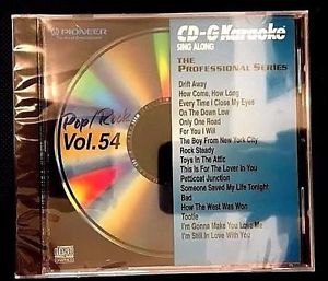 PIONEER KARAOKE CD+G SING ALONG THE PROFESSIONAL SERIES POP/ROCK VOL 54