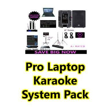 Professional Laptop Karaoke System with Yamaha DBR12 Powered Speakers 2000 Watts