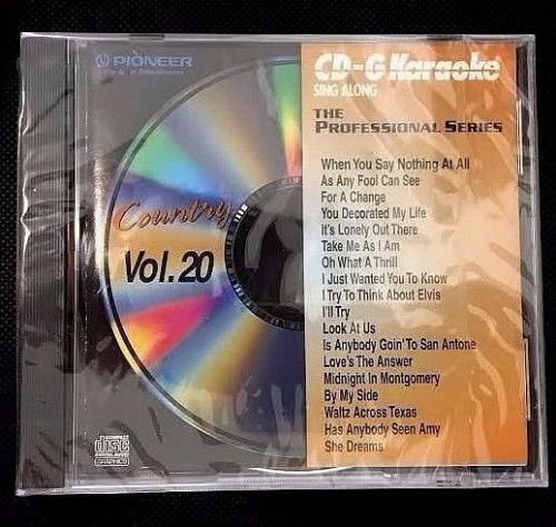PIONEER KARAOKE CD+G MUSIC PROFESSIONAL SONGS PCDG- 218 COUNTRY VOL 20