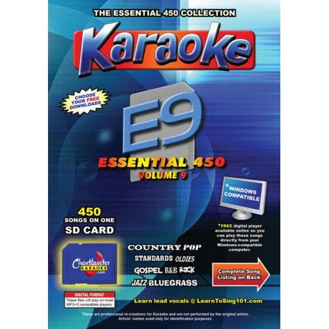 Chartbuster Essential 450 Vol. E9 - 450 MP3G SD Card Karaoke CDG Music