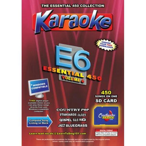 Chartbuster Essential 450 Vol. E6- 450 MP3G SD CARD KARAOKE CDG MUSIC 4 PLAYER
