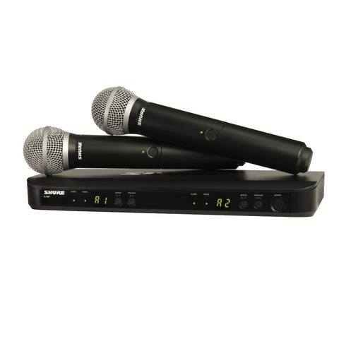 Shure BLX288, PG58 Wireless Vocal Combo with PG58 Handheld Microphones