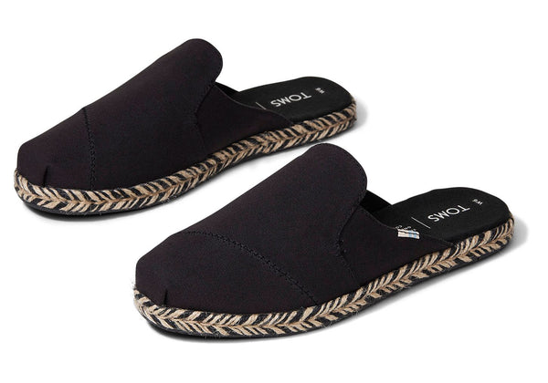 Nova Slip-On Espadrilles - Black Canvas