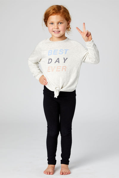 Best Day Ever Kids Sweater - Natural