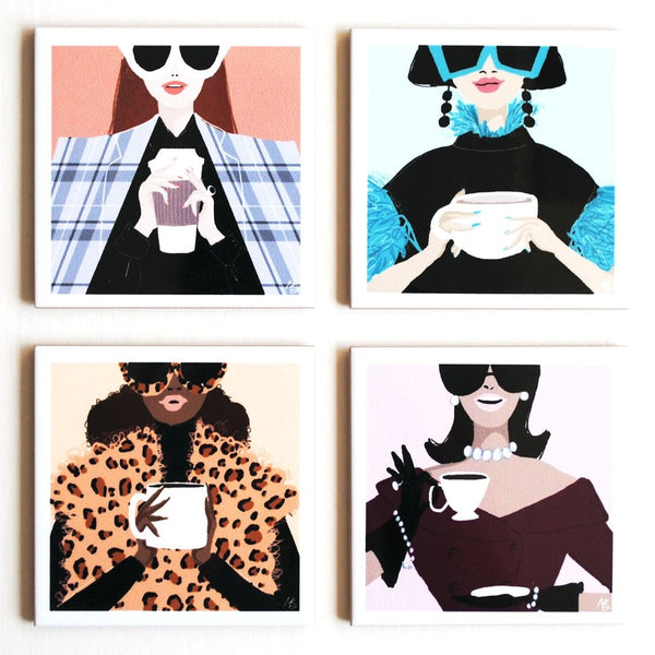 Coffee Couture Fashion Coasters