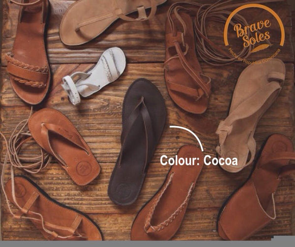 The Trenza Flip Flop - Cocoa