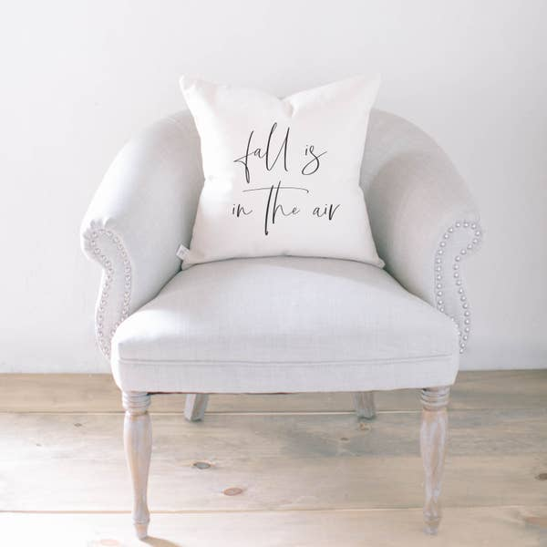 Fall Is In The Air Pillow - White