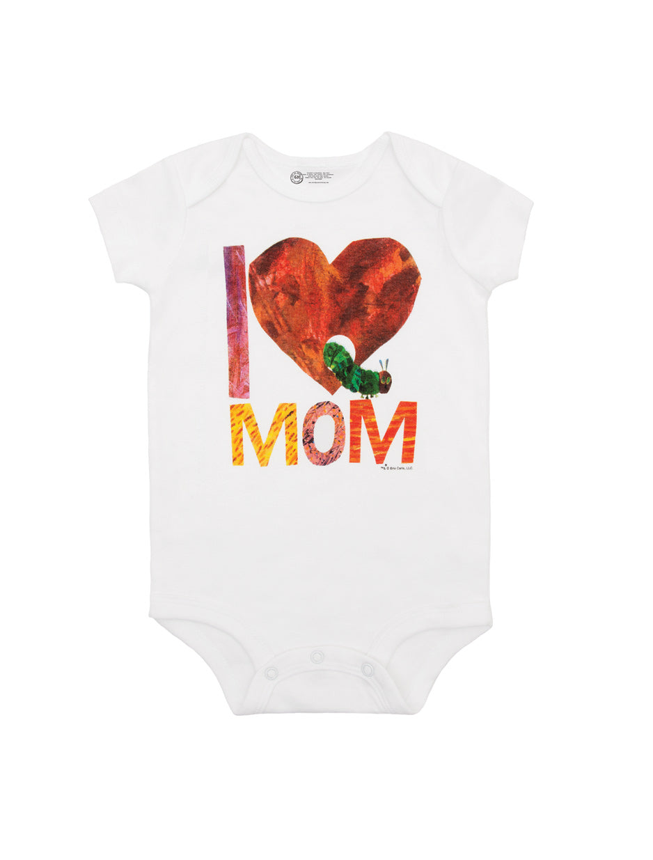 World Of Eric Carle I Love Mom With The Very Hungry Caterpillar Onesie