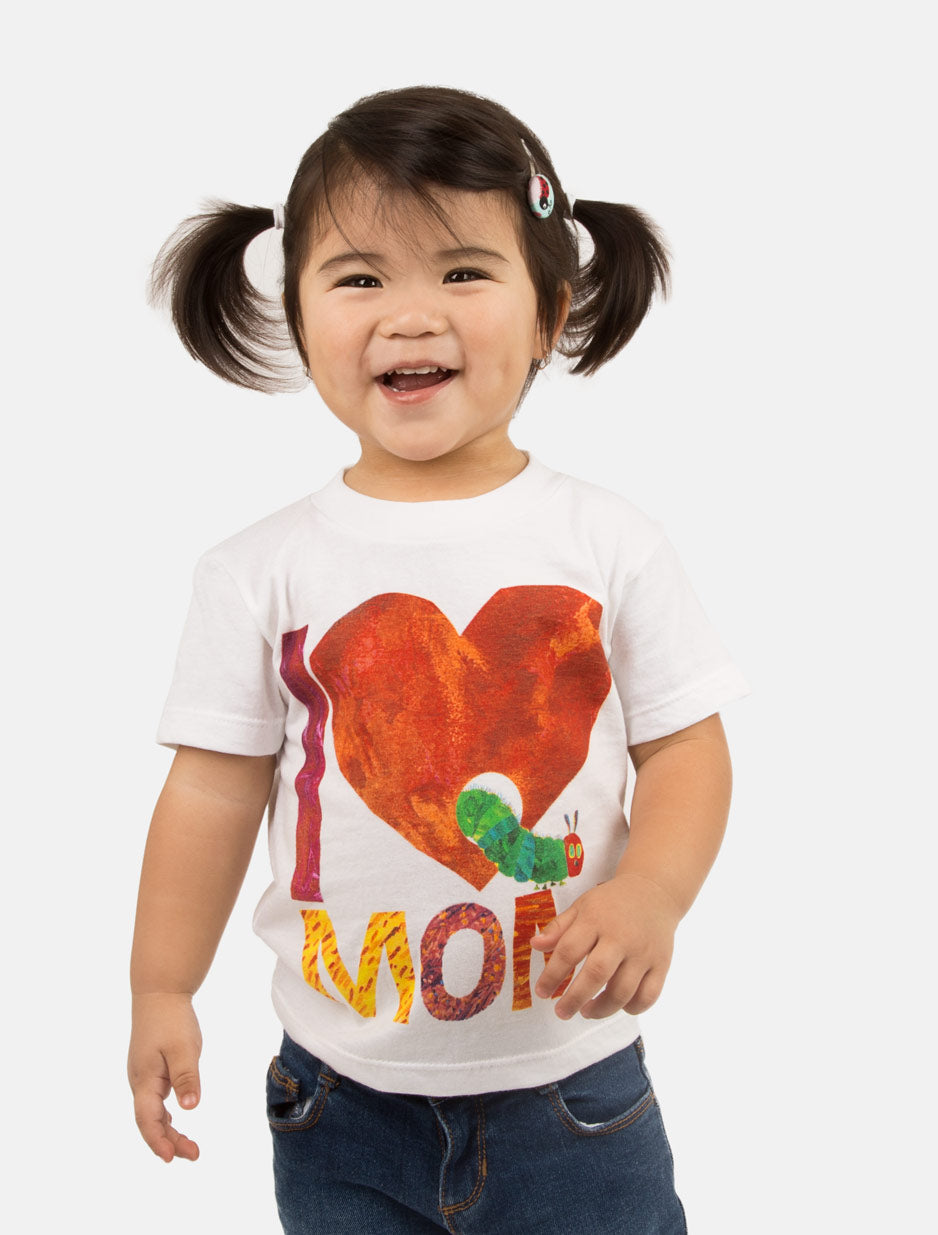 World Of Eric Carle I Love Mom With The Very Hungry Caterpillar Kid's Tee