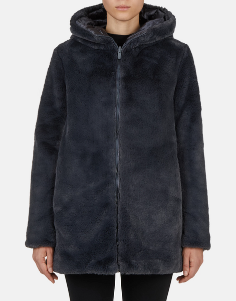 Fury Hooded Reversible Coat - Black