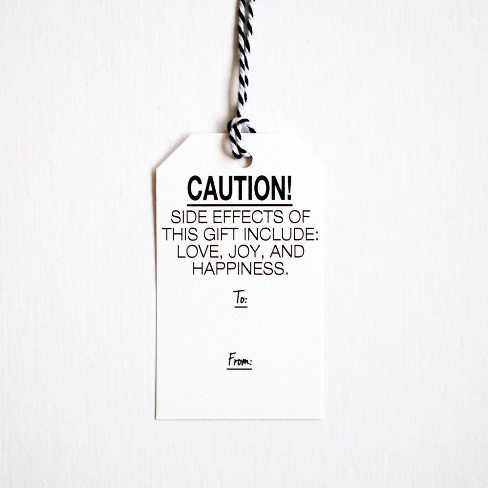 Caution!  Gift Tags
