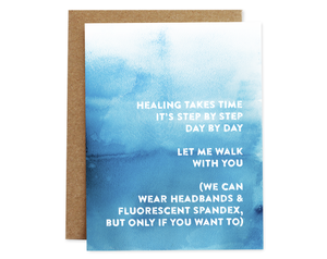 Healing Takes Time - Compassion Card