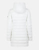 Sold Stretch Coat w/ Detachable Hood - White