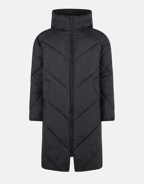 STD Recy Hooded Coat - Black