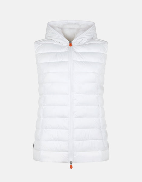 Sold Hooded Vest - White