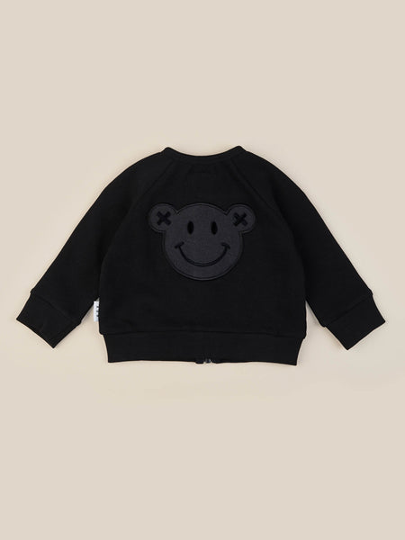 Smiley Sweat Jacket - Black