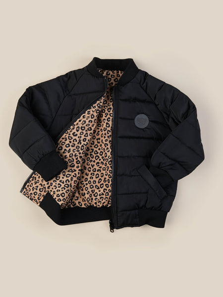 Animal Reversible Bomber - Caramel/Black