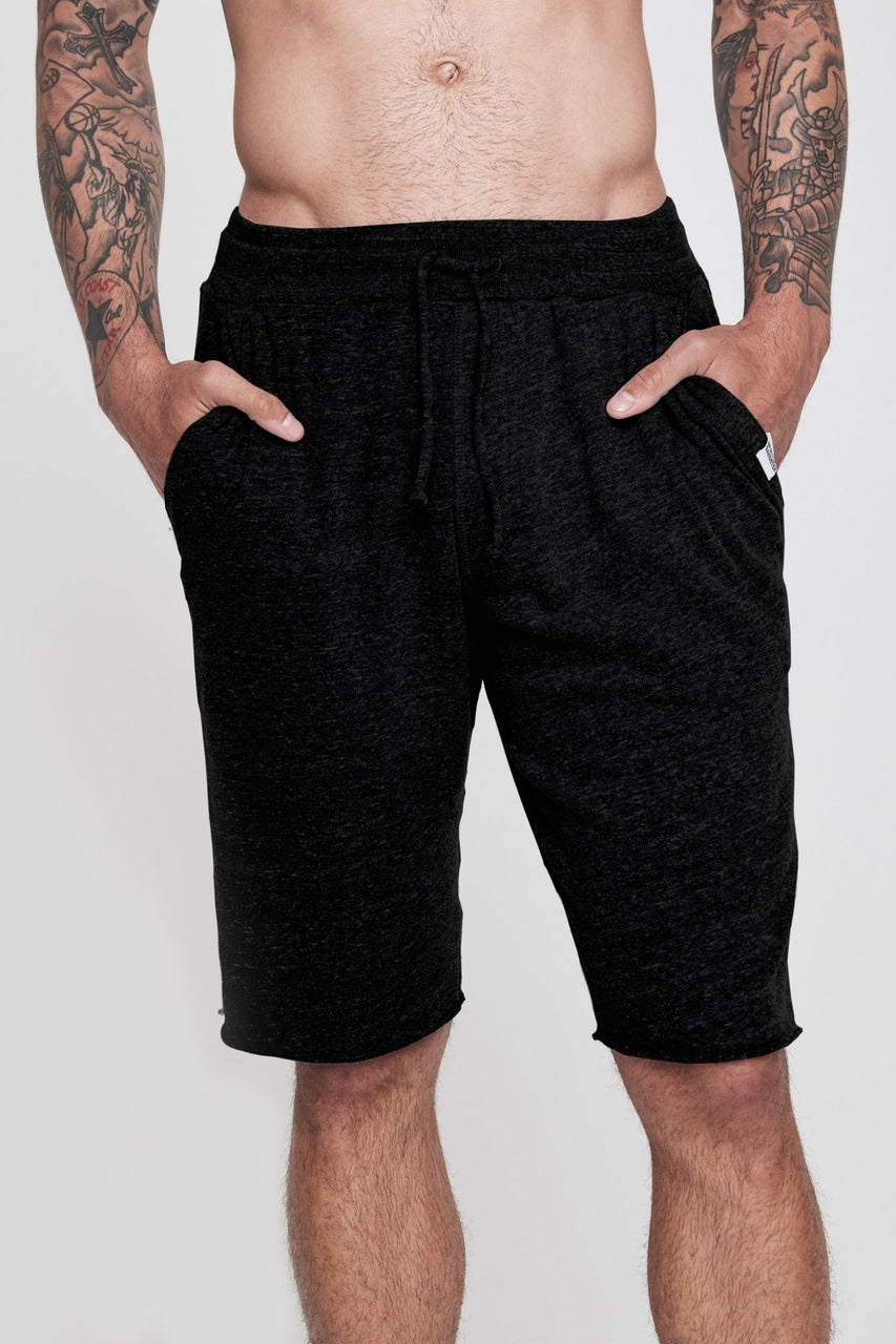 Varsity Fleece Gym Shorts - Black