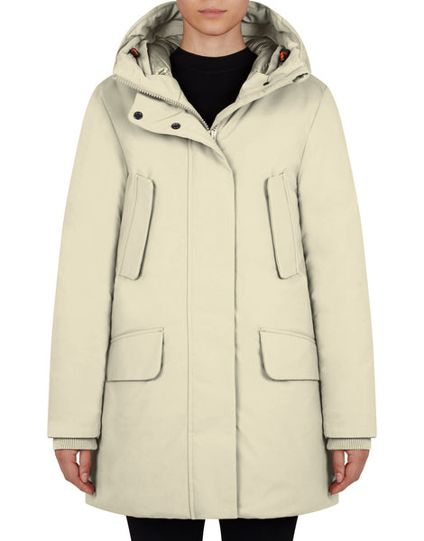 Smeg Winter Classic Hooded Parka - Cool Beige
