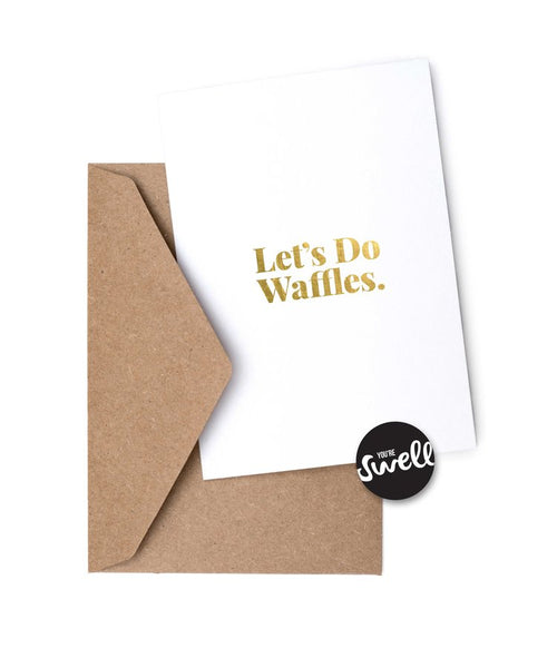 Waffles - Humorous Card