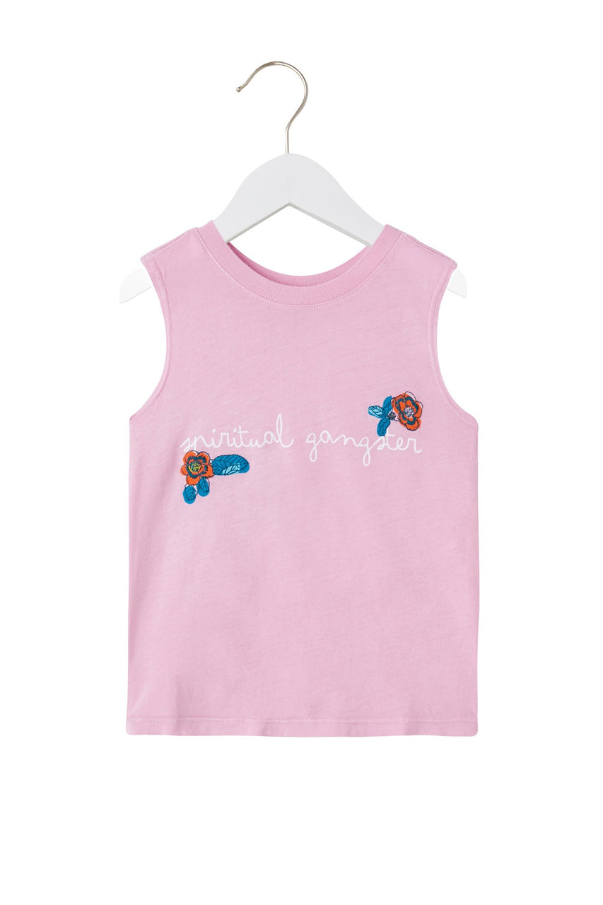 Floral Kids Muscle Tank - Lilac