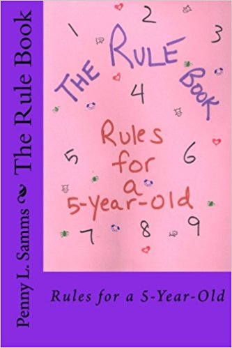 View of The Rule Book:  Rules For A 5 Year Old (Blue and Purple) Cover Art