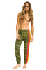 Women's 4 Stripe Sweatpants - Camo // Neon