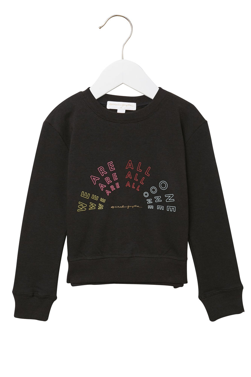 We Are All One Kids Sweatshirt - Vintage Black